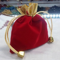 Hot Sale 50pcs Velvet Drawstring Pouches Jewelry Gift Bags 9cmx12cm HG-04377
