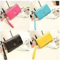 Fashion Multifunctional Women's Envelope Wallet Purse Women PU Leather Handbag Clutch Bag Coin Card Phone Holders Case Cover
