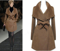 Free shipping wholesale classic autumn winter fashion wool  medium-long design brand wool coat outerwear trench