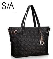 Genuine leather handbag Famous Brand Plaid shoulder bag totes cowhide women's leather handbags women messenger bags