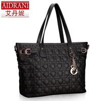 2014 Spring women's cowhide handbag dimond plaid women one shoulder bag desigen handbags fashion genuine leather messenger bags