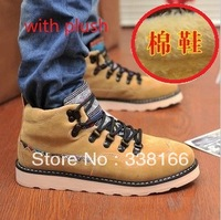 Winter spring summer Men Shoes Fashion Leather Waterproof Snow Fur Ankle Martin Boots Sneakers Plus Size free shipping