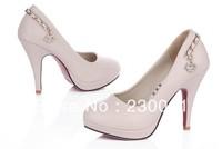 women fashion waterproof high-heeled shoes round earrings pendants shoes non-slip shoes