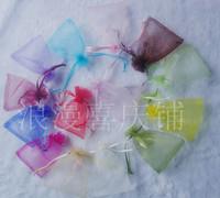 Mixed Color!!!! 9*12CM solid color cosmetics & jewelry organza bags, 200pcs per order!