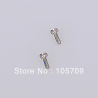 Free shipping 10X Wholesale 5 Point Star Pentacle Dock Connector Bottom Screws Fit For iPhone 4 4S D0336
