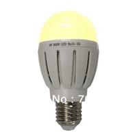 Free shipping 2700~6500K 6w CCT bulb  E27 E26 B22 base  (1 bulb a box)