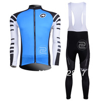 2013 Assos Team  Long Sleeve Cycling Jersey Winter Thermal Fleece (Straps) Bib Pants Bicycle Jacket Wear Ciclismo Clothing kit
