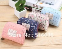 Free Shipping New Arrival lovely korean style popular cosmetic bag fashion women make up bag storage bag 4 colors