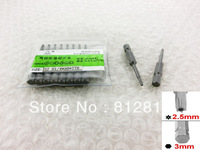 50mm Length 2.5mm Point T8 Type Security Torx Screwdriver Bit 10 Pcs