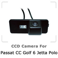 Car Rear view Camera For VW Passat CC Golf 6 Polo New Jetta with CCD Sensor, Waterproof, 170 degree Night Vision, Free Shipping