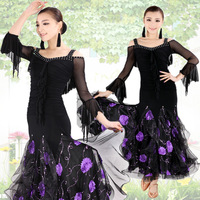 Diamond luxury applique modern dance isointernational companionless one-piece dress dance clothes hb143