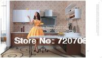 fashional prefab villa kitchen cabinet