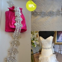 Shining  Wedding Sash Rhinestone Beading Crystal Real Stones Bridal Belt  Wedding Belt Dress belt
