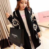 New Fashionable And Luxury Women's Cardigan Sweater Turn-down Collar Wool Women's Coat