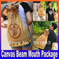 Canvas Backpack Bag Women Campus Rucksack Boy Girls School Casual Knapsack trave bag Double Shoulder Handbag bundle package
