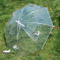 thickening transparent umbrella automatic long-handled umbrella