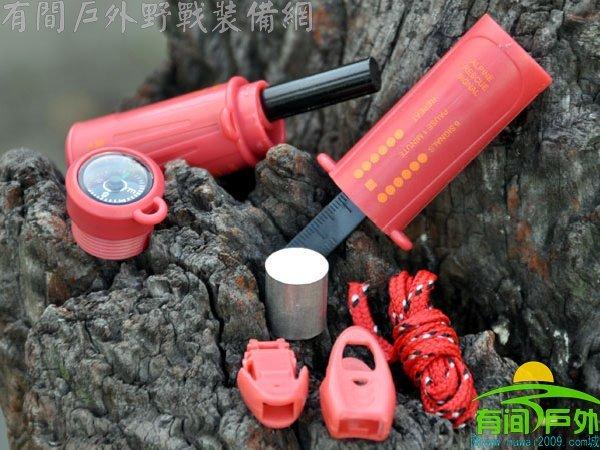 Beargrylls totipotent lm10a magnesium block flingers led lighting whistle 10 1 tools(China (Mainland))