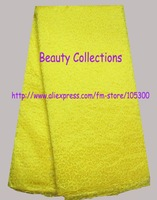 Double Organza plain color fashion design BCL01068 yellow 5 yards per piece with free shipping