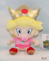 "Free Shipping 10pcs/Lot Cute Super Mario Bros.Baby Peach Princess Plush Doll Toy 6.5"" Wholesale"