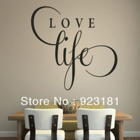 Free shipping Love Life Inspirational Wall Stickers Decal DIY Home Decoration Wall Mural Removable Room Stickers 40x40cm