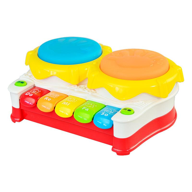Free shipping Music baby drum luminous pat hand drum violin electronic piano baby toy(China (Mainland))