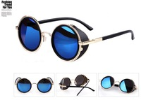 2014  Vintage  Round Glasses Fashion Sunglasses Women Same With Stars SG051