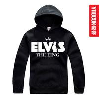 Elvis presley elvis costello metal thickening with a hood sweatshirt male women's