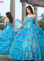 Biggest Flowers Pattern  Princess Quinceanera Dress With Sequin Sweetheart  Ball gown  Bubble  By Lace Up Free Shipping