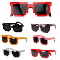 Retro Trendy Cool Pixel Unisex Glasses Pixelated Style Square Sunglasses 6Color