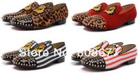 Limited Edition Brand Red Bottom Men Rivets Spike Flats Sneakers Dress Party Shoes Top Quality  Men Casual Loafers