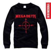 Megadeth loose o-neck pullover sweatshirt male women's