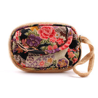 Trend 2013 national day clutch tote bag hemp material print coin purse free shipping