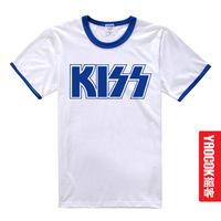 Kiss band heavy metal rock t-shirt summer short-sleeve