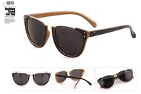 Fashion holbrook polarized brand  womens sunglasses with punk rivet style  SG058 free Shipping