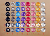 Wholesale 500pcs,Aluminum Home Button Sticker for iphone 3 4 4s 5 5S iPad 2 3 new iPad,DHL Free Shipping
