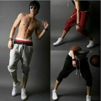 Free Shipping New Summer beach slim casual capris pants male sports Solid Color men's sports capris ZYH028
