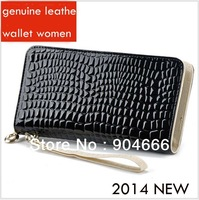 cowhide multi-function With zipper Patent leather wallet women 2013,Clutch organizer for wallets women long wallets