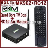 Rikomagic MK902 Quad Core Andriod TV Box RK3188 2GB RAM 8GB ROM Camera Microphone Bluetooth RJ45 AV HDMI + RC12 Air Mouse