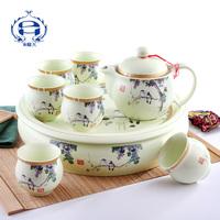 Jingdezhen ceramic Large teaberries set double layer tea set teapot cup