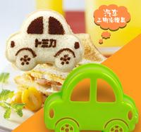 5pcs/lot Cartoon Little Green Car Sandwich/Sushi Bread Cake Mold Maker DIY Mold Cutter Craft kitchenware Free Shipping