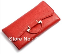 multi-function 100% TOP genuine leather wallet women,17 space capacity Clutch women wallets genuine leather