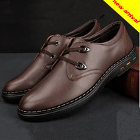 Hot Sale!  Free Shipping 2013 new brand fashion british men warm genuine leather shoes male flat shoes