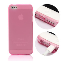 For iphone  5 s phone case silica gel ultra-thin transparent scrub iphone5 soft shell  for apple   5 protective case