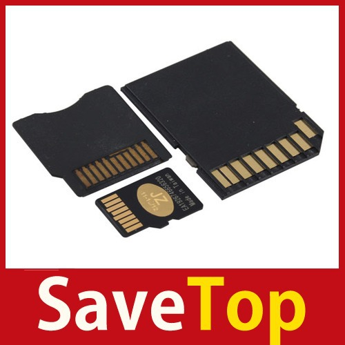 [SaveTop] New MicroSD Card TF Card 4GB Flash Card + MiniSD Adapter + SD Adapter KIt Set wholesale(China (Mainland))