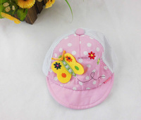 Baby hat 100% cotton cloth hat 4-6 hat butterfly accessories maozi