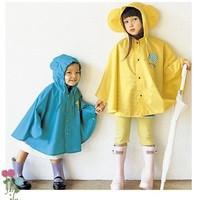 High quality, fashion poncho, super cute Korean children raincoat poncho rain gear, raincoat poncho paternity