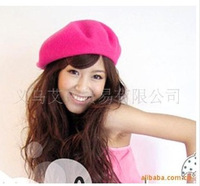 New arrival maozi fashion all-match wool beret cold-proof thermal women's beret