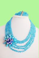 free shopping!!!Handmade flower necklace set series