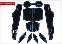 Free shipping 11pcs 2008 2009 2010 2011 2012 Toyota Corolla Gate Slot Pad Door Mats Carpets Cup Cushion Auto Accessories k