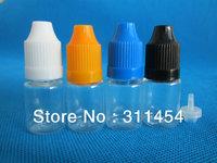 100pcs/lot 5ml PET needle tips plastic dropper bottles with childproof caps for e cig oil eliquid bottle, 5ml needle tip bottle